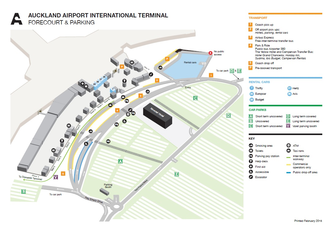Auckland Airport International Terminal Map