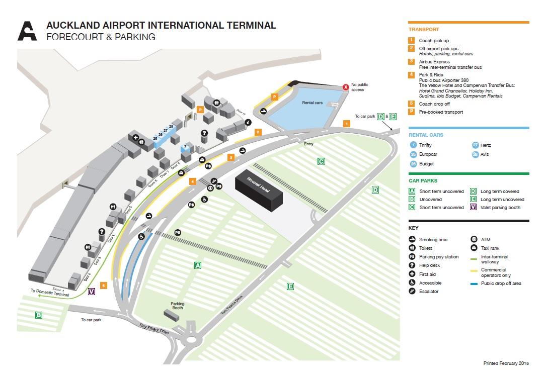 Auckland Airport International Terminal Map